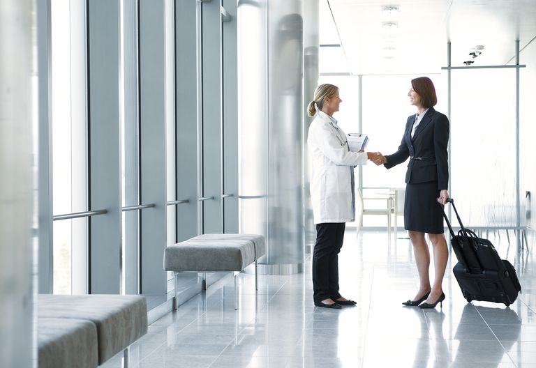 Re-entry guidance for medical device representatives